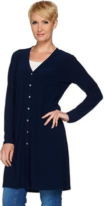 Susan Graver Textured Liquid Knit Long Cardigan