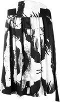Ann Demeulemeester gathered front A-line skirt - women - Silk/Spandex/Elastane - 34