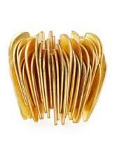 Viktoria Hayman Slice Stretch Golden Tall Cuff Bracelet