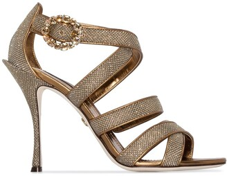 Dolce & Gabbana Keira 105mm glitter-effect sandals