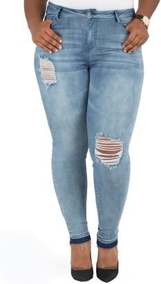 Poetic Justice Corrine Release Hem Skinny Crop Jeans