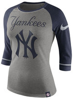 Nike Women's New York Yankees Tri Raglan T-Shirt