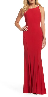 Mac Duggal Low Back Sleeveless Trumpet Gown