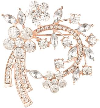 Anne Klein Crystal Arch Brooch