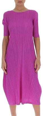 Pleats Please Issey Miyake Short Sleeve Midi Dress