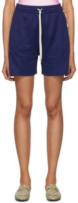 Gucci Blue GG Drawstring Shorts