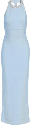 Herve Leger Crystal-embellished Bandage Maxi Dress
