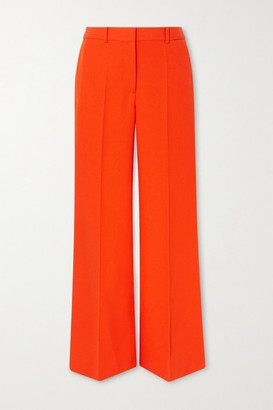 Victoria Beckham Wool-gabardine Wide-leg Pants - Orange