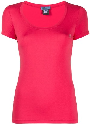 Blumarine rhinestone-logo T-shirt