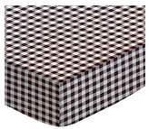 SheetWorld Fitted Portable / Mini Crib Sheet - Gingham Check - Made In USA