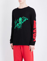Off-White Skull and text-motif cotton jumper