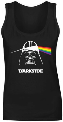 Flip Womens Darkside Darth Vader Pink Floyd Parody Vest Tank Top Black UK 10 (M)