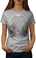 Headphone Forest Nature Music Women M T-shirt | Wellcoda