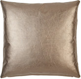 Barneys New York Metallic-Leather-Front Pillow