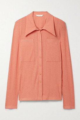 Low Classic Ribbed Jersey Shirt - Peach
