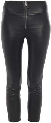 Sprwmn Cropped Stretch-leather Leggings