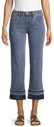 Karl Lagerfeld Paris Wide-Leg Frayed Jeans