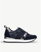 Carvela Justified panelled faux-leather trainers
