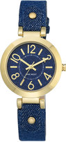 Nine West Women's Blue Denim Strap Watch 32mm Nw-1712DDDM