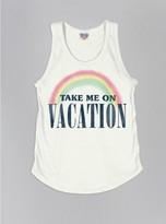 Junk Food Clothing Kids Girls Take Me On Vacation Tank-sugar-xs