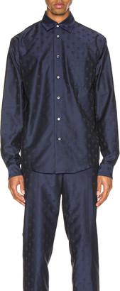 GmbH Pointed Collar Shirt in Navy   FWRD