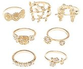 Charlotte Russe Embellished Romantic Theme Rings - 7 Pack