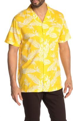 Onia Hawaiian Print Short Sleeve Trim Fit Shirt