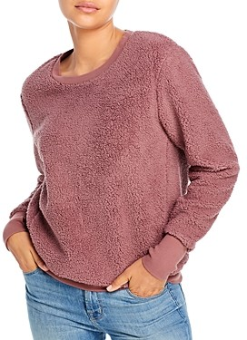 Andrew Marc Faux Sherpa Sweater