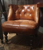 Cambrewood Vintage Brown Leather Tub Chair