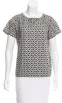 A.P.C. Short Sleeve Floral Print Top