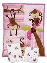 NoJo Little Bedding By 3 Little Monkeys 3pc Portable Crib Bedding Set by