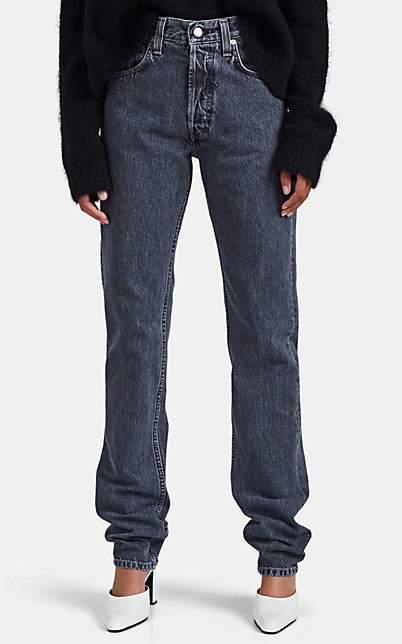 Helmut Lang Women's Straight Jeans - Dark Gray