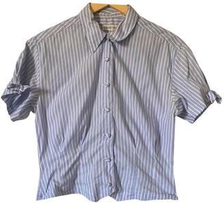Gerard Darel Blue Cotton Top for Women