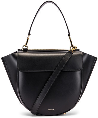 Wandler Medium Hortensia Leather Bag in Black | FWRD