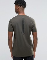 Asos Longline T-Shirt With Explicit Spine Print