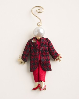 Chico's Holly Red Lady Doll Ornament