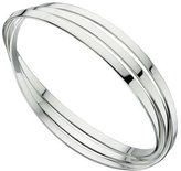 Elements Silver Sterling Silver Ladies Triple Russian Wedding Bangle - Flat Bands