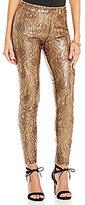 Gianni Bini Savannah Feather Sequin Slim Legging
