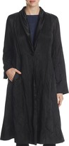 Eileen Fisher Shawl Collar Crinkle Coat