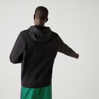 Lacoste Men's SPORT Crocodile Print Hooded Cotton Sweatshirt