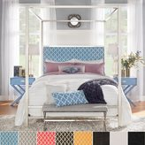 Inspire Q Solivita Full-size Canopy Chrome Metal Poster Bed