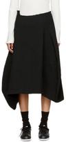 Comme des Garcons Black Asymmetric Crinkle Skirt