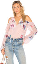 Yumi Kim Stella Cold Shoulder Top in Pink. - size L (also in M,S,XS)