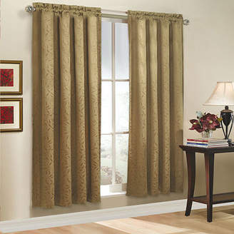 Sweet Home Collection Whitfield All Over Leaf Motif Jacquard Window Curtain Panel 52 W x 63 L