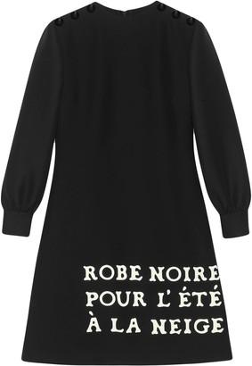 Gucci Wool-silk dress with print