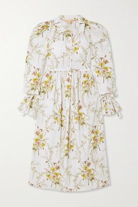 Brock Collection Floral-print Cotton-blend Dress - Beige