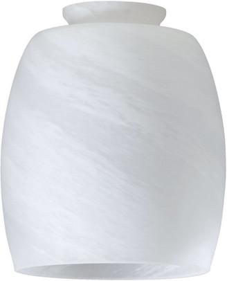"""Quorum International 4"""" Signature Glass Shade, Faux Alabaster"""