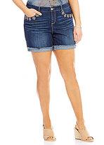 Code Bleu Plus Gracie Boyfriend Frayed Cuff Shorts