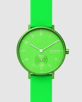 Skagen Aaren Kulor Neon Green Analogue Watch