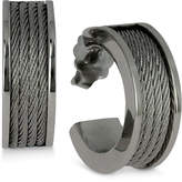 Charriol Women's Forever Stainless Steel Cable Hoop Earrings
